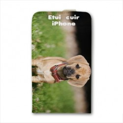 Etui cuir personnalisable IPHONE 6 S Plus