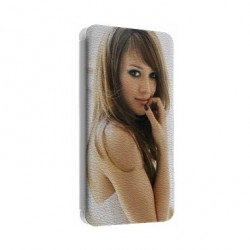 Etui Cuir personnalisable WIKO RAINBOW UP 4G
