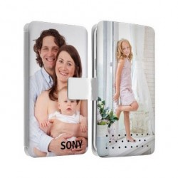 Etui Cuir personnalisable recto verso SONY XPERIA Z1 compact