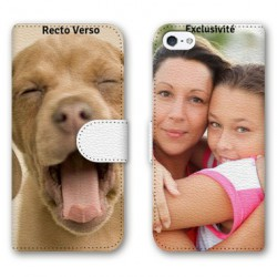 Etui cuir RECTO VERSO personnalisable IPHONE 5C