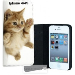 Etui Cuir personnalisable Iphone 4