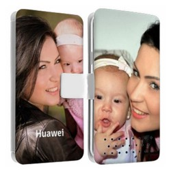 Etui Cuir personnalisable recto verso Huawei Ascend P1