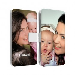 Etui Cuir personnalisable recto verso Huawei Ascend P7