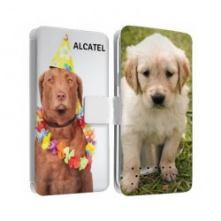Etui Cuir personnalisable recto verso pour Alcatel Go Play