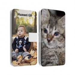 Etui Cuir personnalisable recto verso pour huawei G8