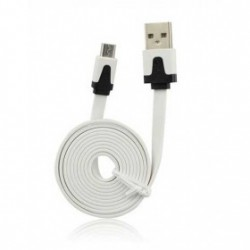 CÂBLE LUXE USB LIGHTNING BLANC POUR IPHONE, IPAD, IPOD TOUCH ET NANO 7