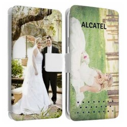 Etui Cuir personnalisable recto verso ALCATEL One Touch Star